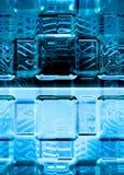 glace bleue de luminescence Photo libre de droits