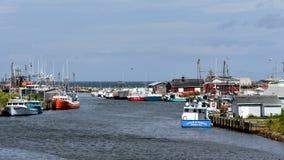 Glace Bucht-Hafen auf Kap-Bretonisch, Nova Scotia lizenzfreie stockfotografie