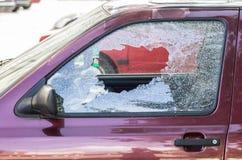 Glace cassée de véhicule Photos libres de droits