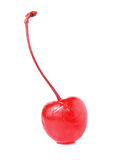 Glace cherries. On white background Stock Photos