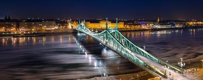 Glace circulant sur la rivière Danube photographie stock