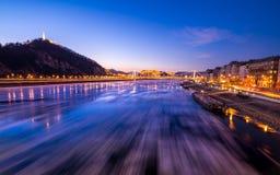 Glace circulant sur la rivière Danube image libre de droits