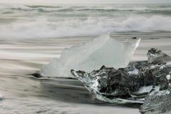 Glace claire sur la plage Photos libres de droits