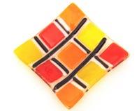 Glace colorée décorative Photos stock