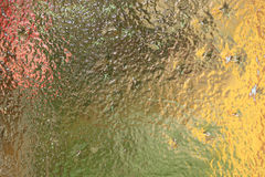 Glace colorée transparente Photo stock