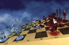 Glace d'échecs Photos libres de droits