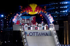 Glace d'accident de Red Bull à Ottawa 2017 Photographie stock