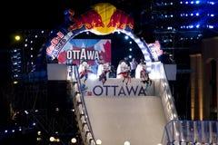 Glace d'accident de Red Bull à Ottawa 2017 Photographie stock libre de droits