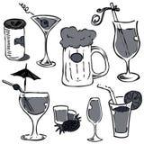 Glace d'alcool réglée (retrait de main) Photo stock