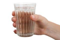 Glace d'eau de boissons photographie stock libre de droits