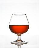 Glace d'eau-de-vie fine de cognac Photo libre de droits