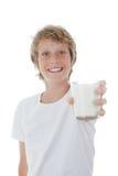Glace d'enfant de lait photos stock