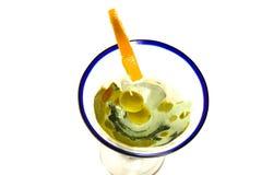 Glace d'isolement de Martini Photographie stock libre de droits