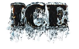 Glace dans l'eau Images stock