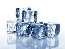 glace de 2 cubes Photos libres de droits