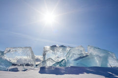 Glace de Baikal photographie stock libre de droits