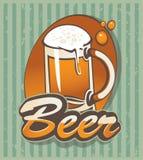 Glace de bière Photographie stock libre de droits