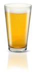 Glace de bière blonde allemande Images libres de droits