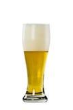 Glace de bière blonde avec de la mousse Image libre de droits