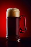 Glace de bière foncée Photo libre de droits