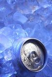 glace de bidon de bière Photos stock