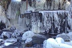 Glace de cascade Photographie stock libre de droits