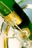 Glace de champagne Photographie stock libre de droits