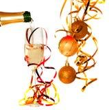 Glace de champagne Photo libre de droits