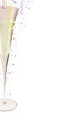 Glace de champagne image libre de droits