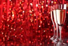 Glace de Champagne Photographie stock