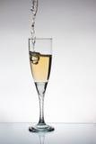 Glace de champange Photographie stock libre de droits