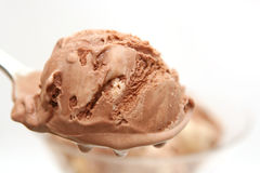 Glace de chocolat Photo libre de droits