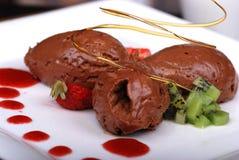Glace de chocolat Images libres de droits
