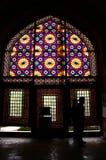 Glace de couleur dans le musée Photos libres de droits