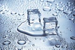 glace de cubes photographie stock