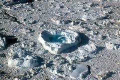 Glace de flottement de forme de coeur près d'iceberg dans l'ilulissat, Groenland, jakobshavn Images stock
