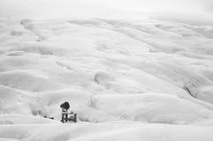 Glace de fonte pour l'eau sur des glaciers Photo stock