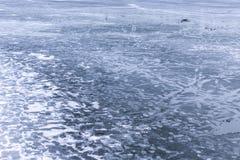 Glace de fonte sur un lac Image stock