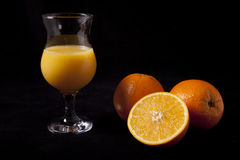 Glace de jus d'orange Image libre de droits