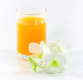 Glace de jus d'orange Photos stock