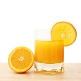 Glace de jus d'orange frais Image stock