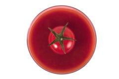 Glace de jus de tomates Photographie stock