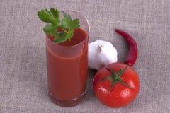 Glace de jus de tomates Image libre de droits