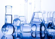 Glace de laboratoire image stock