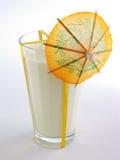 Glace de lait avec le parapluie Photographie stock libre de droits