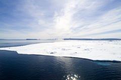 Glace de mer près de côte Islamd de neige Photographie stock libre de droits