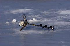 glace de pêche de foreuse Image libre de droits