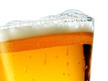 Glace de plan rapproché de bière Images libres de droits