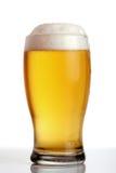 Glace de plan rapproché de bière Photos libres de droits