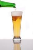 Glace de plan rapproché de bière Image libre de droits